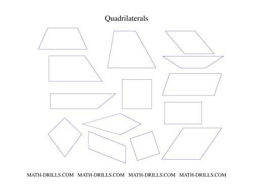 Quadrilaterals Set Geometry Worksheet