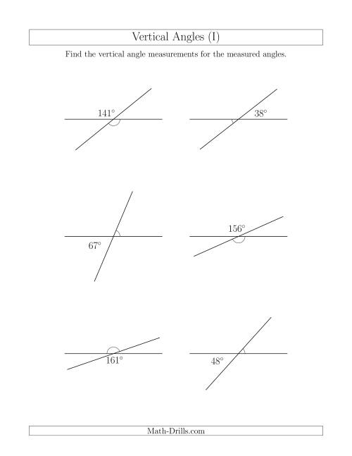 Vertical angles homework help Theme analysis essay – Angle Pairs Worksheet