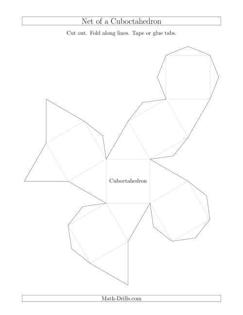 net of a cuboctahedron geometry worksheet. Black Bedroom Furniture Sets. Home Design Ideas