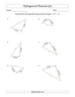 Search Pythagorean Theorem Page 1 Weekly Sort