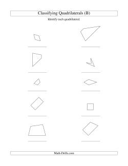 classifying quadrilaterals b geometry worksheet. Black Bedroom Furniture Sets. Home Design Ideas