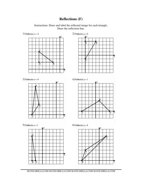 Printables Reflections Worksheet Geometry reflections math worksheet reflection symmetry no old version ff geometry worksheet