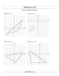 reflection of 3 vertices over the x or y axis b geometry worksheet. Black Bedroom Furniture Sets. Home Design Ideas