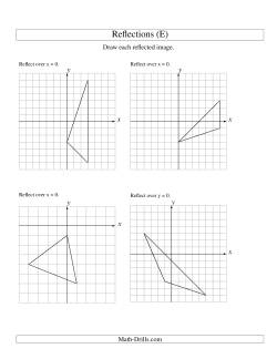 reflection of 3 vertices over the x or y axis e geometry worksheet. Black Bedroom Furniture Sets. Home Design Ideas