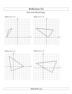 reflection of 3 vertices over the x or y axis g geometry worksheet. Black Bedroom Furniture Sets. Home Design Ideas