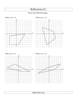 reflection of 4 vertices over the x or y axis c geometry worksheet. Black Bedroom Furniture Sets. Home Design Ideas