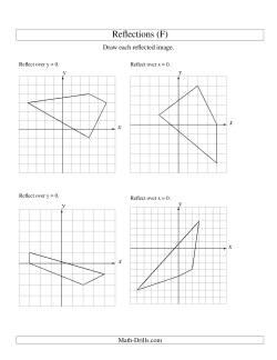 reflection of 4 vertices over the x or y axis f geometry worksheet. Black Bedroom Furniture Sets. Home Design Ideas
