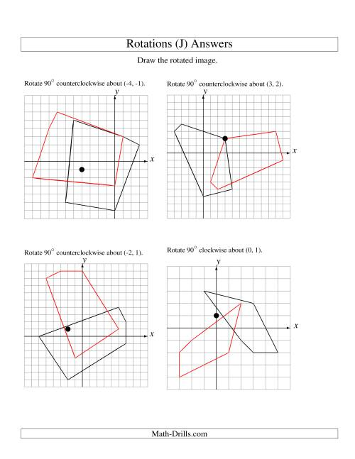 The Rotation of 5 Vertices around Any Point (J) Math Worksheet Page 2