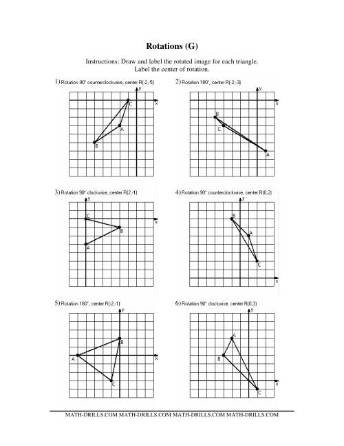 Rotations (Old Version) (GG) Geometry Worksheet
