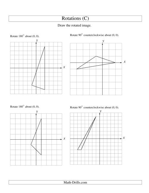 Rotation Of 3 Vertices Around The Origin C