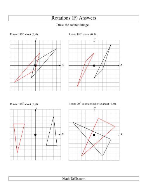 Rotation of 3 Vertices around the Origin (F)