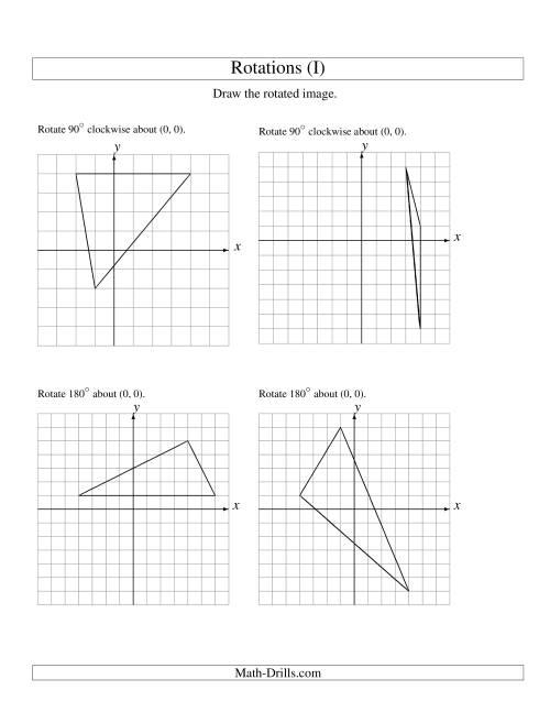Rotation Of 3 Vertices Around The Origin I