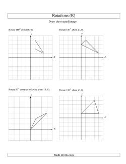rotation of 3 vertices around the origin starting in quadrant i b geometry worksheet. Black Bedroom Furniture Sets. Home Design Ideas