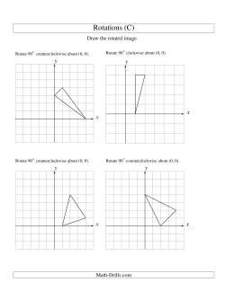 rotation of 3 vertices around the origin starting in quadrant i c geometry worksheet. Black Bedroom Furniture Sets. Home Design Ideas