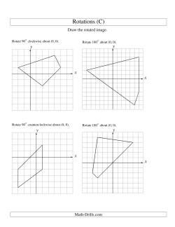 Rotation Of 4 Vertices Around The Origin C Geometry