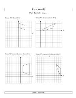 rotation of 4 vertices around the origin starting in quadrant i i geometry worksheet. Black Bedroom Furniture Sets. Home Design Ideas