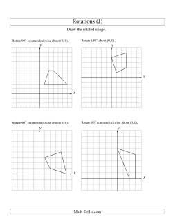 rotation of 4 vertices around the origin starting in quadrant i j geometry worksheet. Black Bedroom Furniture Sets. Home Design Ideas