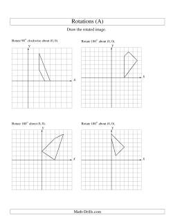 rotation of 4 vertices around the origin starting in quadrant i all geometry worksheet. Black Bedroom Furniture Sets. Home Design Ideas
