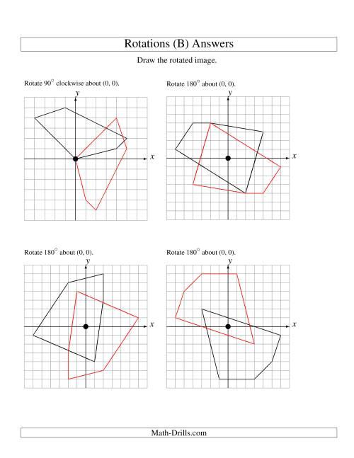 Rotation of 5 Vertices around the Origin (B)