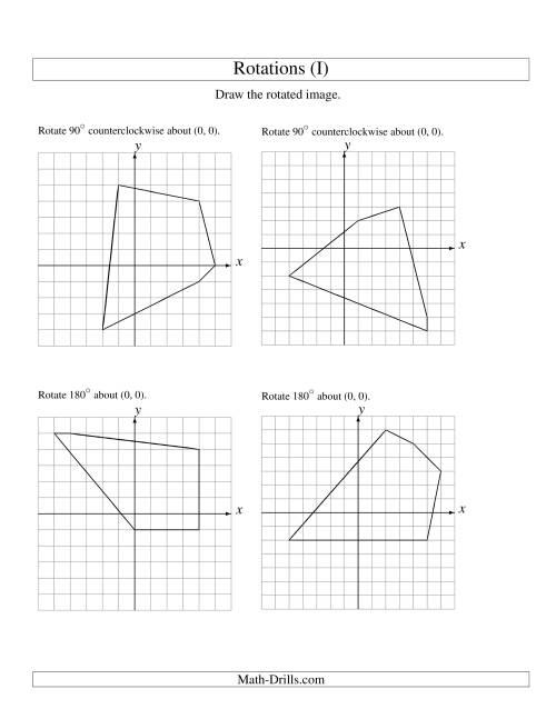 Rotation Of 5 Vertices Around The Origin I