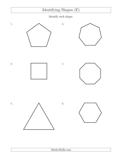 Identifying Shapes (E)