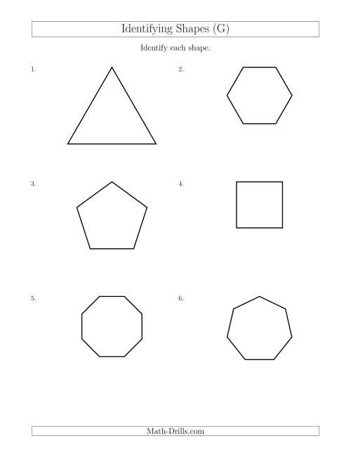 Identifying Shapes (G)