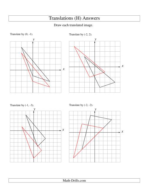 The Translation of 3 Vertices up to 3 Units (H) Math Worksheet Page 2