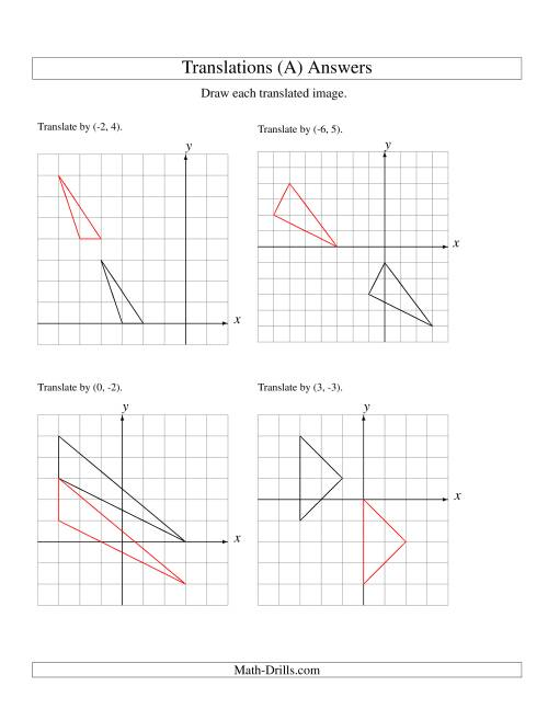 worksheet Translation Worksheets translation of 3 vertices up to 6 units a the math worksheet page 2