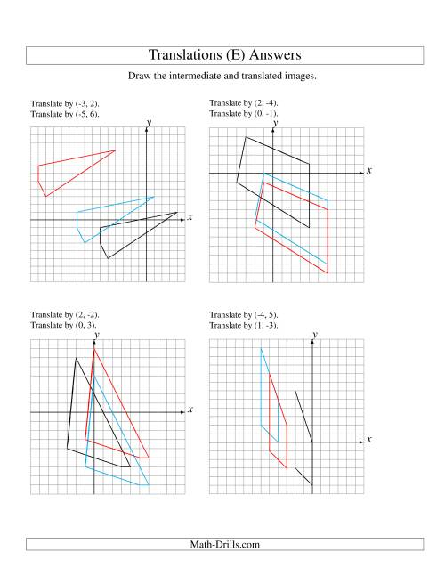 Two-Step Translation of 4 Vertices up to 6 Units (E)