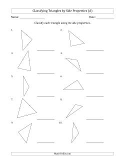 Classifying Triangles by Side Properties (Marks Included on Question Page)
