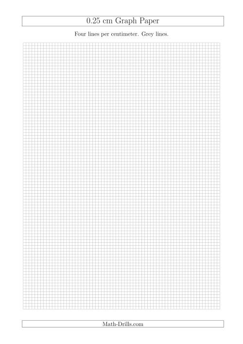 The 0.25 cm Graph Paper with Grey Lines (A4 Size) (Grey) Math Worksheet