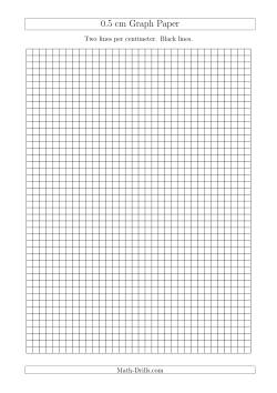 0.5 cm Graph Paper with Black Lines (A4 Size) (A)