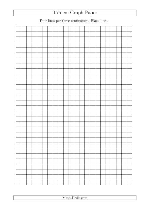 0.75 cm Graph Paper with Black Lines (A4 Size) (A)