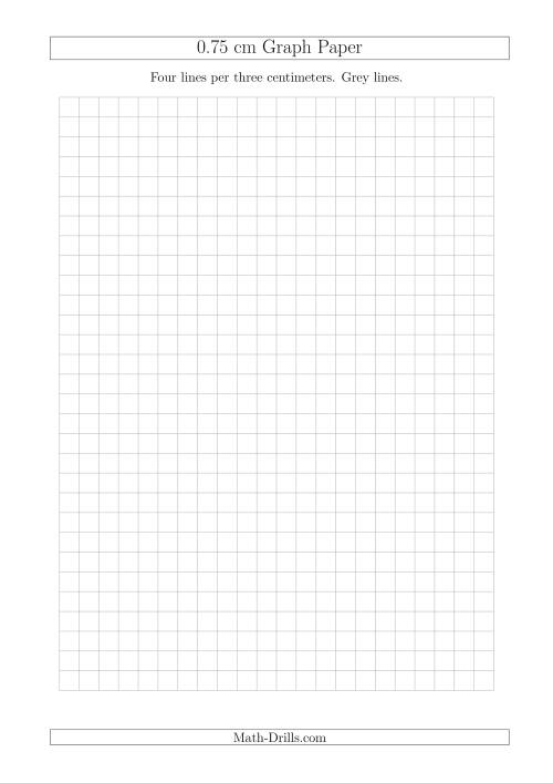 The 0.75 cm Graph Paper with Grey Lines (A4 Size) (Grey) Math Worksheet