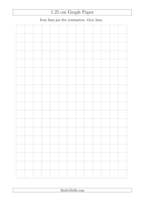 The 1.25 cm Graph Paper with Grey Lines (A4 Size) (Grey) Math Worksheet