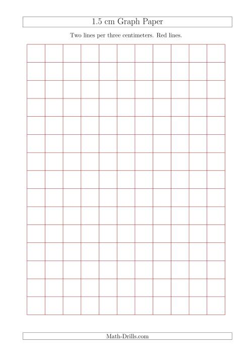 1 5 Cm Graph Paper With Red Lines A4 Size Red
