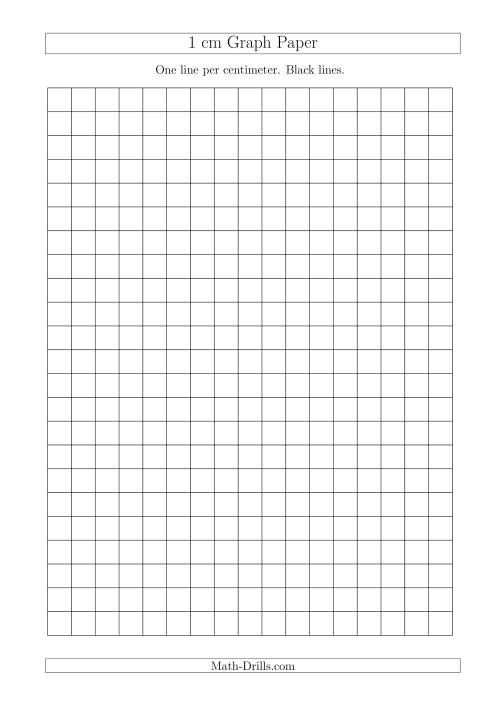 The 1 cm Graph Paper with Black Lines (A4 Size) (A) Math Worksheet