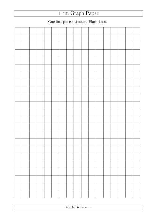 1 cm Graph Paper with Black Lines (A4 Size) (A) Graph Paper