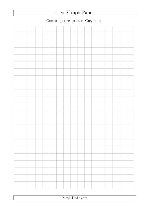 The 1 cm Graph Paper with Grey Lines (A4 Size) (Grey) Math Worksheet