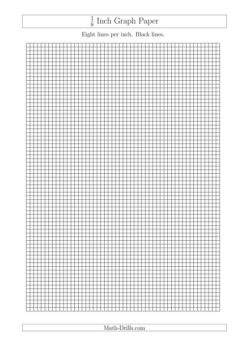 This is a picture of Selective One Inch Graph Paper Printable