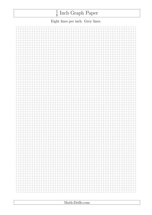 1/8 Inch Graph Paper with Grey Lines (A4 Size) (Grey)