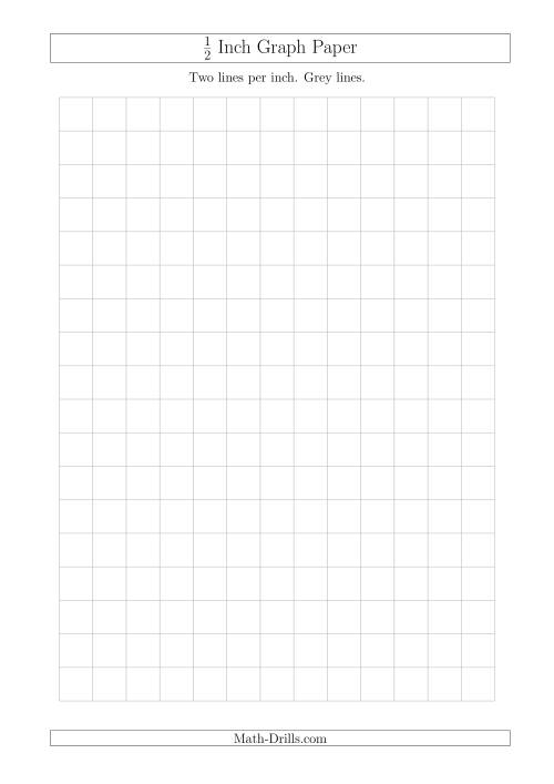 The 1/2 Inch Graph Paper with Grey Lines (A4 Size) Graph Paper. Full ...