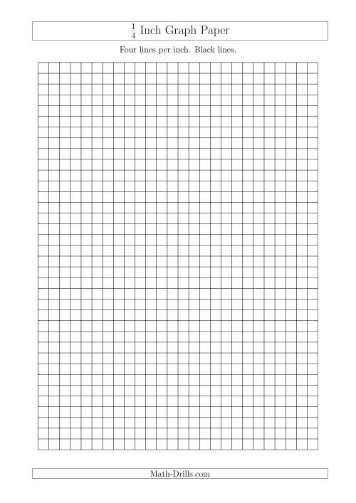 The 1/4 Inch Graph Paper with Black Lines (A4 Size) (Black) Math Worksheet