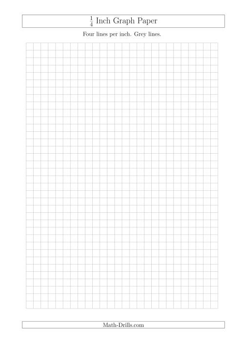 The 1/4 Inch Graph Paper with Grey Lines (A4 Size) (Grey) Math Worksheet