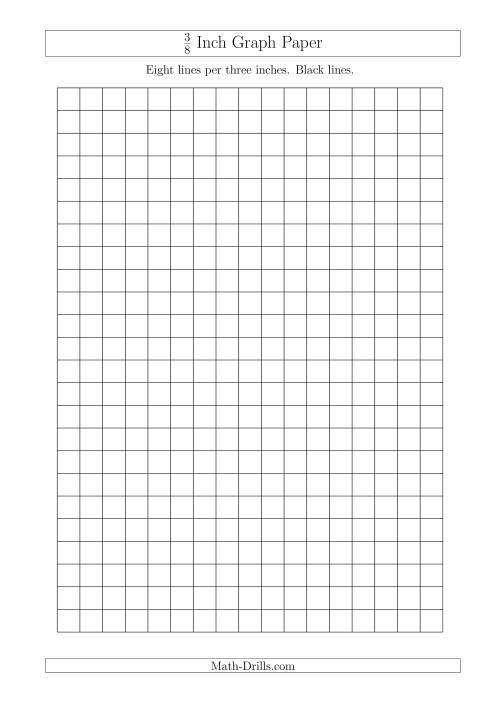 The 3/8 Inch Graph Paper with Black Lines (A4 Size) Math Worksheet