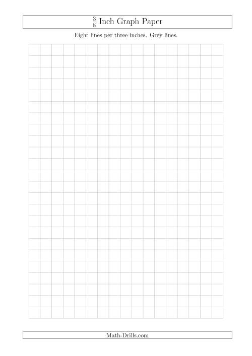 The 3/8 Inch Graph Paper with Grey Lines (A4 Size) (Grey) Math Worksheet