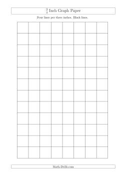 3  4 inch graph paper with black lines  a4 size  graph paper