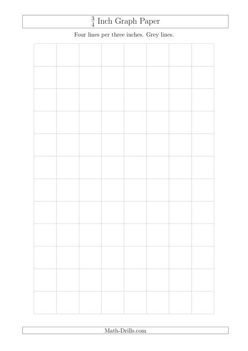 3/4 Inch Graph Paper with Grey Lines (A4 Size) (Grey)