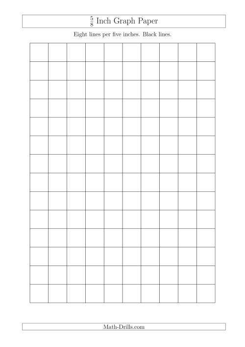 The 5/8 Inch Graph Paper with Black Lines (A4 Size) Math Worksheet