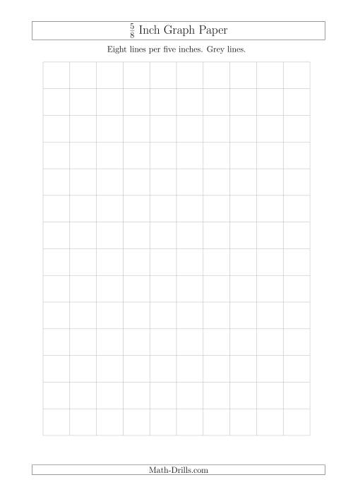 The 5/8 Inch Graph Paper with Grey Lines (A4 Size) (Grey) Math Worksheet